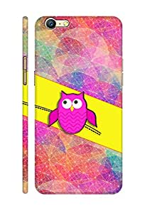 AMAN Owl Up 3D Back Cover for Oppo A39