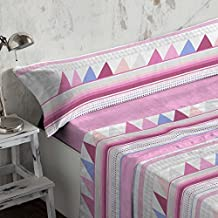 Burrito Blanco - Juego de sábanas Coralina 951 Rosa para cama de 150x190/200 cm