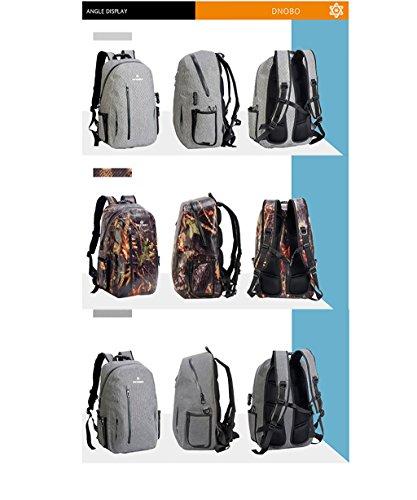 DNOBO FB24D Professional Wasserdichter Rucksack Leichter Rucksack Outdoor Daypack Ultraleicht Wasserdicht Praktisch Rucksack für Männer + NetBook Innentasche (3 Farben) -24L #3