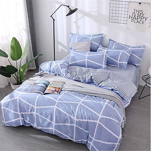 SHJIA Bettbezug Simple Classic Queen Bettwäsche Set Bettbezug Set Bed Side E 180x220cm