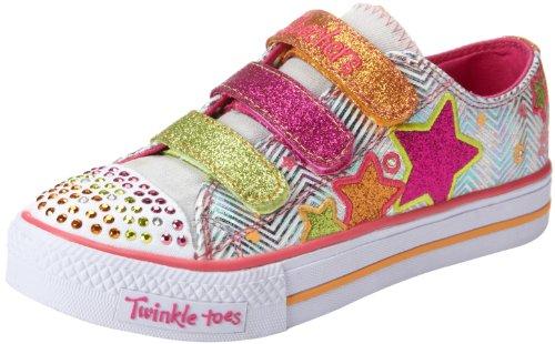Skechers ShufflesTriple Up, Mädchen Sneakers, Weiß (WMLT), 26 EU