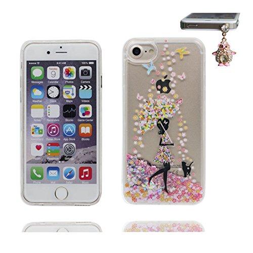 """iPhone 6S Plus Coque, Skin étui iPhone 6 Plus / 6S Plus 5.5"""", talon hauts Design Glitter Bling Sparkles Shinny Flowing iPhone 6 Plus Case 5.5"""", résistant aux chocs & Bouchon anti-poussière # 3"""