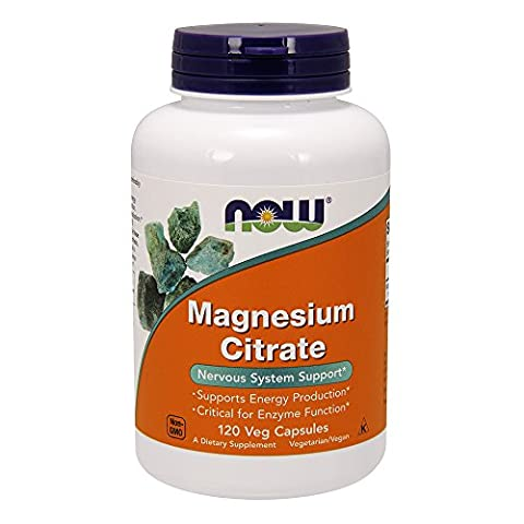 Now Foods, Magnesiumcitrat, 120 Vcaps