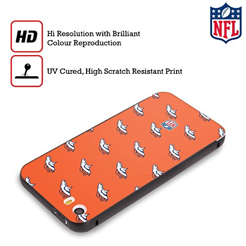 Ufficiale NFL Pattern 2017/18 Denver Broncos Nero Cover Contorno con Bumper in Alluminio per Apple iPhone 6 Plus / 6s Plus Pattern