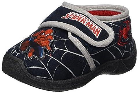 Spiderman Jungen SP004673 Hausschuhe, Blau (Navy/L.Grey), 26 EU