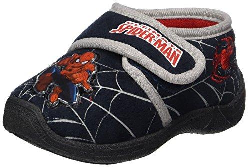 Spiderman Jungen SP004673 Hausschuhe, Blau (Navy/L.Grey), 25 (Für Schuhe Spiderman Kinder)