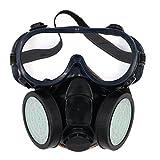 olusar Mascarilla polvo Máscara Protección respiratoria, 2filtros con protección gafas