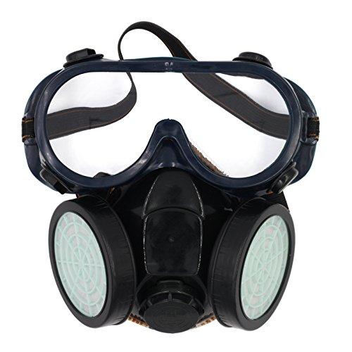 Olusar Atemschutzmaske Staubmaske Atemschutz 2 Filter mit Schutzbrille - Kostüm Atemschutzmaske Maske