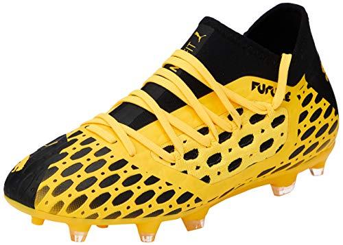 PUMA Future 5.3 Netfit FG/AG Jr, Botas de fútbol Unisex Niños, Amarillo Ultra Yellow Black 03, 33...