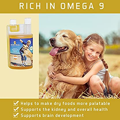 ACTIF PETS Flaxseed Oil for Dogs-Rich in Omega 3, 6 & 9 for Dry, Itchy Skin/Coat. A Natural Dog Supplement for Stiff… 5