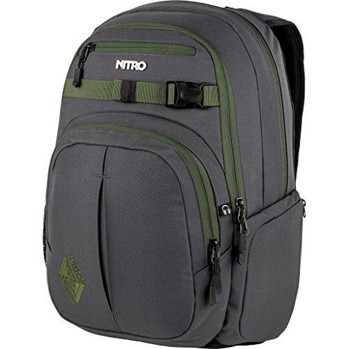 Nitro Chase Rucksack, Schulrucksack mit Organizer, Schoolbag, Daypack mit 17 Zoll Laptopfach,  Pirate Black