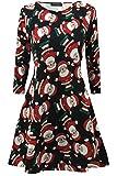 Weihnachts-Kleider für Damen, Weihnachtsbäume, Weihnachten, Weihnachtsmann, Schneemann, Rentier, Rudolph, Glocken, Geschenk, Swingtop, Mini