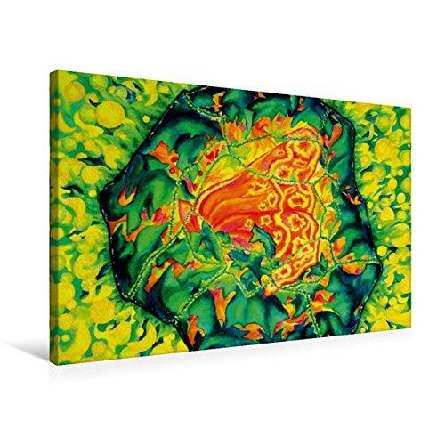 Premium Textil-Leinwand 75 cm x 50 cm quer, Heilstein | Wandbild, Bild auf Keilrahmen, Fertigbild auf echter Leinwand, Leinwanddruck: Die Heilenergie...