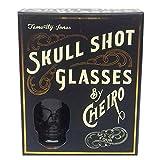 Totenkopf Shot Gläser 4er Set 3D getöntes Glas in Geschenkverpackung Temerity Jones