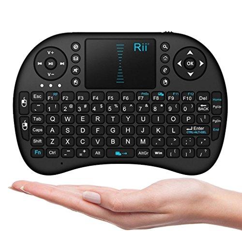 niceEshop(TM) 2.4 G Mini Bewegliche Drahtlose Tastatur mit Touchpad Maus Multi-Media Hand Android Tastatur für Windows, Android / Google / Smart TV, Linux, Mac OS, Blau Von Hinten Beleuchtete (Drahtlose Von Hinten Beleuchtete Tastatur Maus)