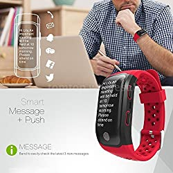 AST Works Bluetooth Sports Smart Bracelet GPS Watch Strap Pedometer Fitness Tracker E1Z0