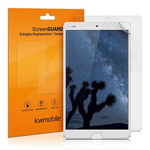 kwmobile 2x Huawei MediaPad M3 8.4 Folie - Full Screen Tablet Schutzfolie für Huawei MediaPad M3 8.4 entspiegelt