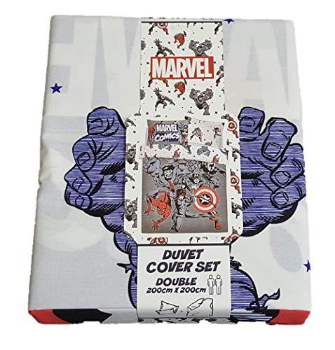 Licensed_Primark Marvel Captain-America-Bettwäsche-Set für Doppelbetten, Schlafzimmer-Dekoration
