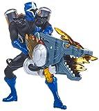 Power Rangers : Super Ninja Steel – Lance-Flammes Dragon du Ranger Bleu – Figurine + Accessoire