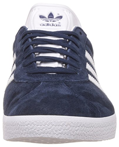 adidas Gazelle, Baskets Basses Mixte Adulte Bleu (Collegiate Navy/White/Gold Metallic)