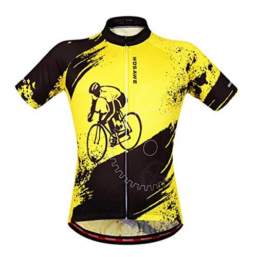 Ruiboury Unisex Fahrrad-Fahrrad-Kurze Hülse Jersey Breathable Quick Dry Shirts Tops -