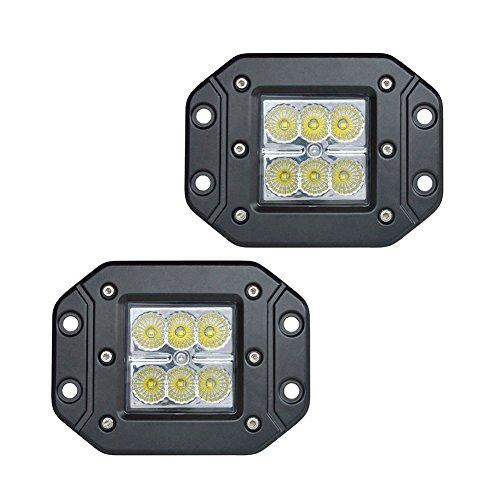 PoJu FUSKANG 2Pcs Feux de travail à LED 18W, Phares à voiture Lumière Article Lumières hors route Champ Phares antibrouillard Lampes frontales Lumière spot intempéries ( Color : Spot Light-12*10*8cm )