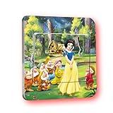 Disney Schneewitchen Lichtschalter Wandsticker selbstklebend Kinder Aufkleber Disney Princess Cartoon Motiv Deko Schalter- CartoonPrintDesign - L014