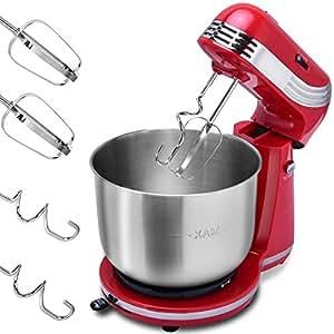 Costway robot da cucina macchina impastatrice mixer sbattitore fruste e gancio per impastare - Robot per cucinare e cuocere ...