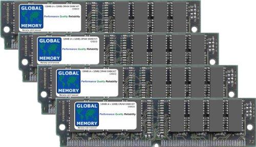 128MB (4x 32MB) DRAM SIMM Memory RAM KIT für Cisco 7200Router Netzwerk Processing Engine (mem-npe-128mb) - Router Memory Kit