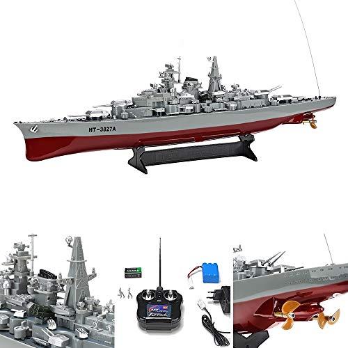 Melko Kriegsschiff RC Schiff Boot Schlachtschiff Bismarck 1:360 Modell 3827 inkl. Zubehör, ferngesteuert, 71 x 10,5 x 20 cm