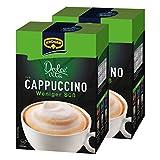 Krüger Dolce Vita Cappuccino, Weniger Süß, Milchkaffee, Milch Kaffee aus löslichem Bohnenkaffee, 20 Portionsbeutel