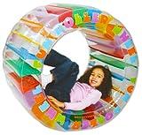 Questa ruota di rullo gonfiabile misura di bambino è stata progettata con Roly-Poly divertimento in mente! È la dimensione perfetta per i giovani a salire attraverso o rotolarsi in e adatto sia per uso in casa e fuori. Completa con un insieme...