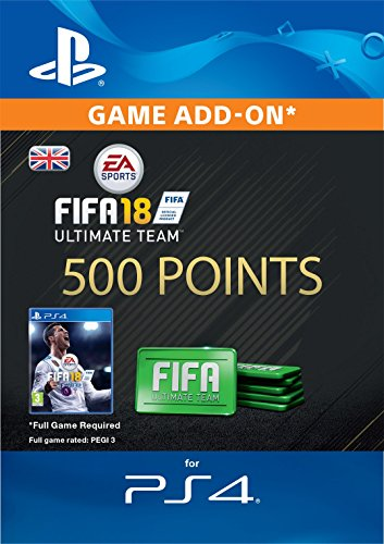 FIFA 18 Ultimate Team - 500 FIFA Points | PS4 Download Code - UK Account