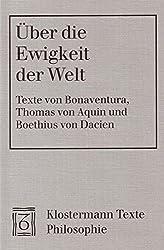 Über die Ewigkeit der Welt. Texte lateinisch-deutsch