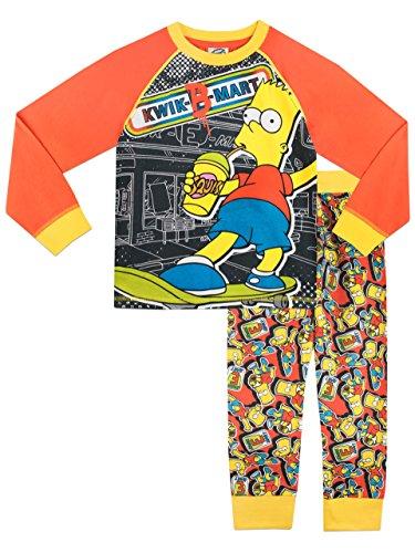 Simpsons - Pigiama a maniche lunga per ragazzi di Bart Simpson - 11 a 12 Anni