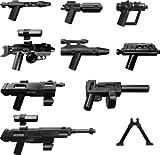 Lego - Juego de armas (incluye bláster DC-15 y DC-17, el bláster del capitán Rex, pistola de explorador y rifle de francotirador), diseño de La guerra de las galaxias