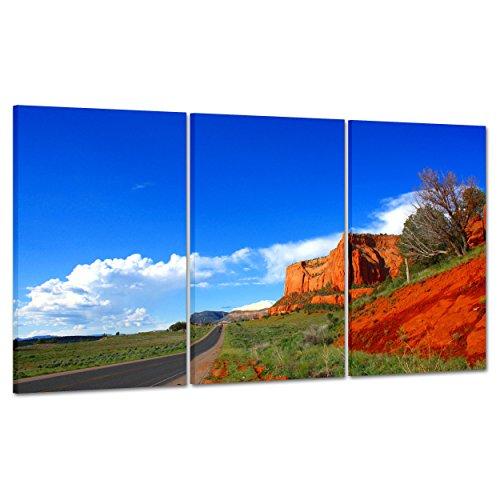Bild auf Leinwand Canvas–Gerahmt–fertig zum Aufhängen–Grand Canyon–Colorado–Nationalpark USA America–Natur Landschaft Panorama 100x50cm