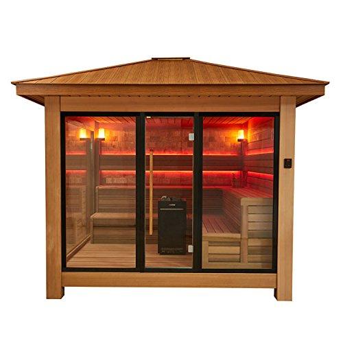 EO-SPA Sauna LT1416A rote Zeder/350x350/13.5kW Vitra