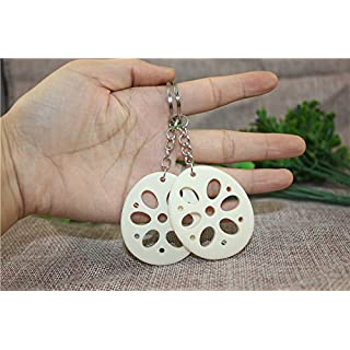 Airgoesin 20pcs Keychain Key Ring Hang Lotus Root Cute Promo Shop Gift for Kids Party Favors & School Carnival Prizes