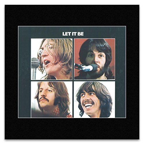 BEATLES (OFFICIAL) - Let It Be 1970 Matted Mini Poster - 30x30cm - Mini-poster