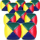Jonglierbälle für Anfänger, Hochwertige Mini Jonglierbälle, Langlebiges Jonglierball Set, Weiche, Einfache Jonglierbälle für Jungen, Mädchen und Erwachsene, Mehrfarbig (10 Packungen)