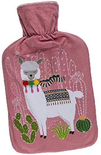 CBK-MS Wärmflache Lama/Alpaka rosa Bettflasche Wärmekissen Wärme Flasche Kissen