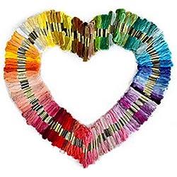 Lot de 50 fils de broderie de couleur aléatoire pour broderie à faire soi-même