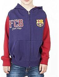 Sudadera niño Fútbol Club Barcelona con gorro - 3-4
