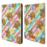 Head Case Designs Offizielle Emoji® Einhorn Gold Pailletten Druck Brieftasche Handyhülle aus Leder für iPad Air 2 (2014)