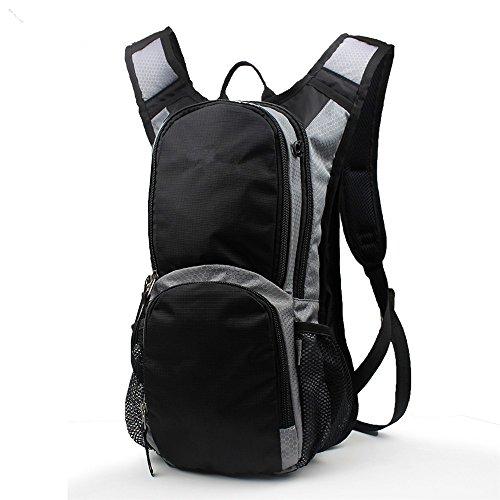 All'apertoalpinismoborsacamminarezainouomini&donneU.l.a.f.ventilazioneviaggiopiccolaShoulderBagBackpack(15L), nero black