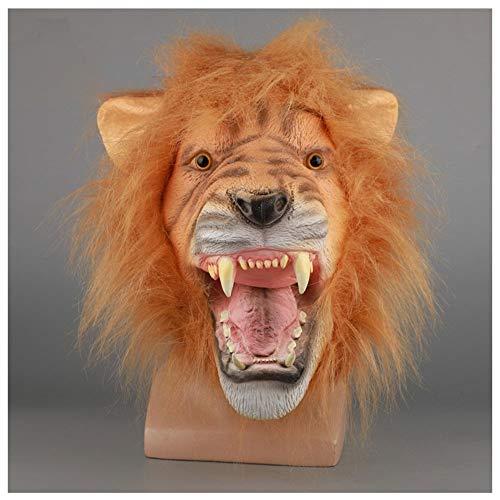 (Maske YN Luxus Neuheit Ostern Halloween Roaring Lion Maskerade Latexmaske)