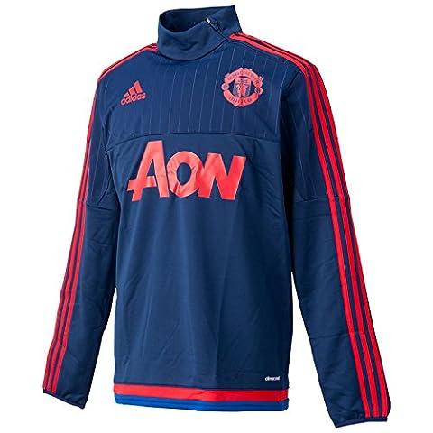 Adidas haut de survêtement T-shirt d'entraînement Manchester United XS Bleu - Dkblue/Scarle/Croyal