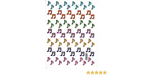 Aufkleber Crystal/ /Musik Thema kleine Note von Musik bunt