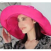 WYM Big Rock Sun Hat Sombrero De Playa Salvaje De Verano Sombrero De Sol UV UV Sun Sra,Red